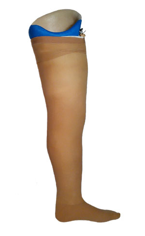 proteza modularna uda z pokryciem kosmetycznym