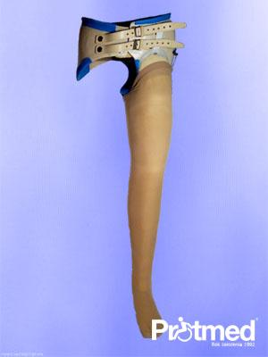 proteza przy wyłuszczeniu w stawie biodrowym z pokryciem kosmetycznym
